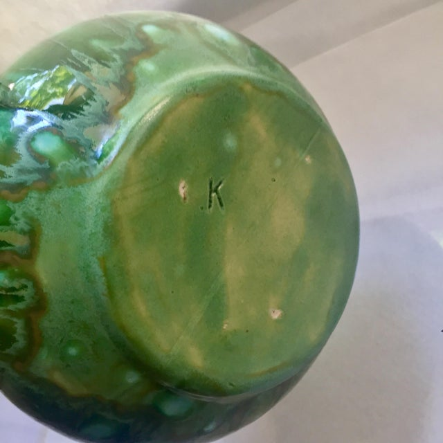 Mid-Century Modern Drip Glaze Vase - Image 7 of 7