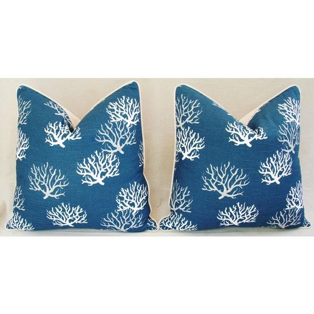 Custom Ocean & Beach Coral Branch Pillows - A Pair - Image 4 of 10
