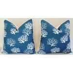 Image of Custom Ocean & Beach Coral Branch Pillows - A Pair