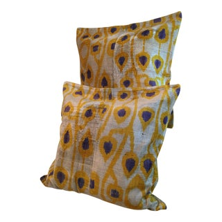 Ikat Velvet Double Sided Pillow Covers - A Pair