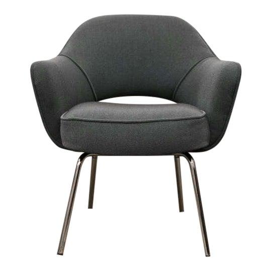 Saarinen Executive Armchair, Vintage Knoll Charcoal - Image 1 of 8