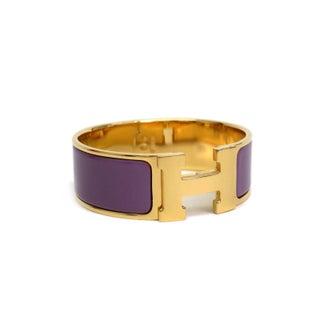 Hermes Purple Clic Clac H Pm Bracelet