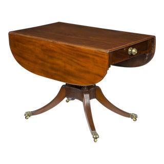 Classical Mahogany Drop-Leaf Table