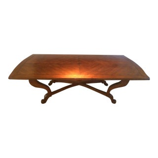 Rococo Revival Style Contemporary Burlwood and Mahogany Table