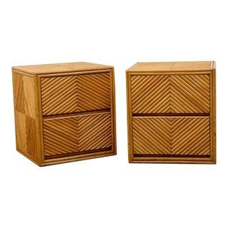 Lovely Pair of Split Bamboo Commodes