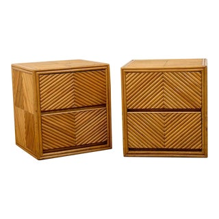 Lovely Pair of Split Bamboo Commodes