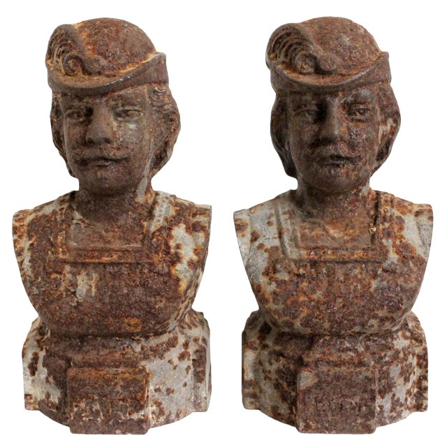 Andiron French Male Chenets - a Pair - Image 1 of 3