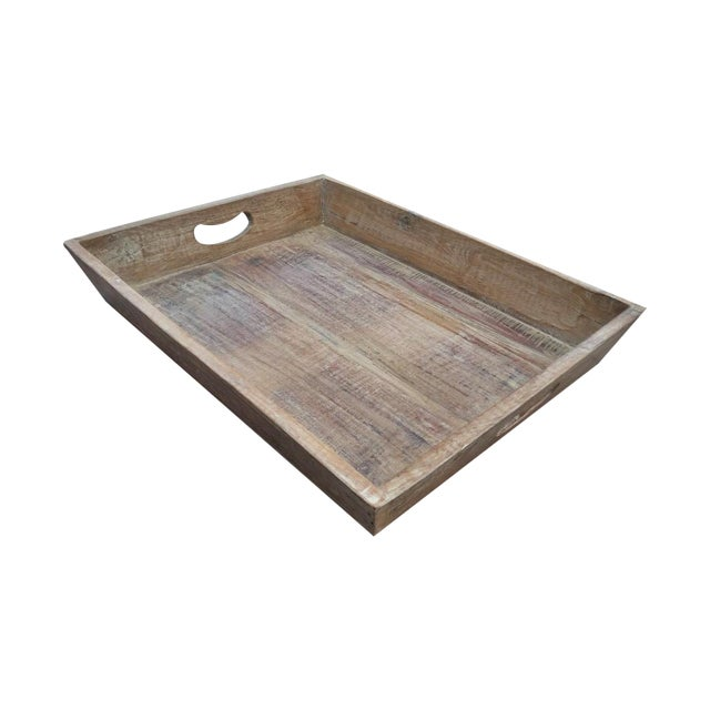 Reclaimed Wood Primitive Style Large Serving Tray - Image 1 of 5