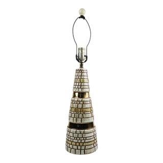 Mid-Century Modern Metallic Painted Ceramic Table Lamp