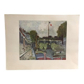 "M. Utrillo's ""Pont Neuf"" French Art Print"
