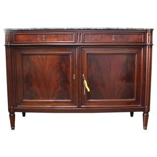 Louis XVI Mahogany Buffet with Marble Top