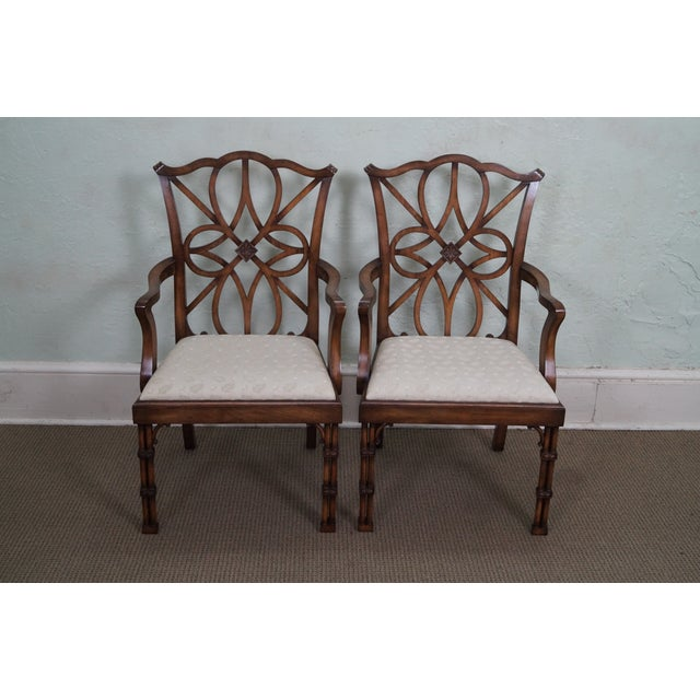 Smith & Watson Regency Style Arm Chairs - Pair - Image 2 of 10