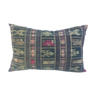 Yao Tribe Embroidered Ikat Pillow