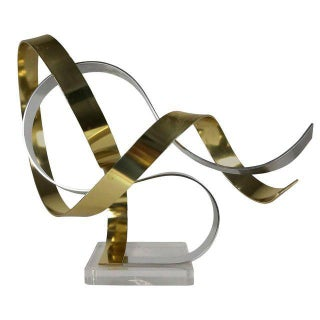 Anodized Aluminum Ribbon Sculpture