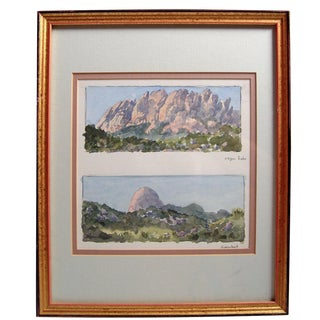 New Mexico Landscape by Bill Zaner Watercolor
