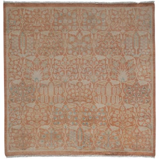 "New Oushak Hand Knotted Area Rug - 5'1"" x 5'1"""