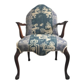 Beacon Hill Blue Ikat Upholstered Chair
