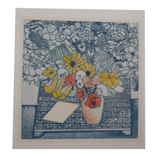 """""""The Letter"""" Woodblock Le Hand Painted Print"""