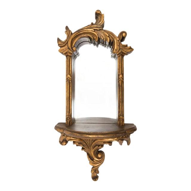 Large 1920s Ornate Giltwood Mirror Wall Niche Shelf - Image 1 of 11