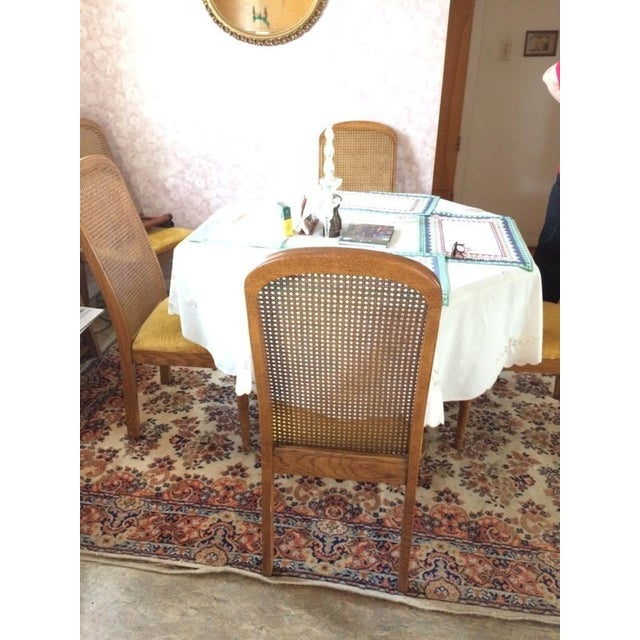 Vintage Dining Table & Cane Back Chairs - Image 5 of 7