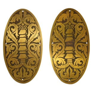 Pair of Decorative Elevator Plates