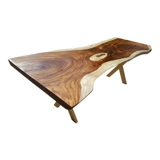 Slab Acacia Wood Live Edge Dining Table