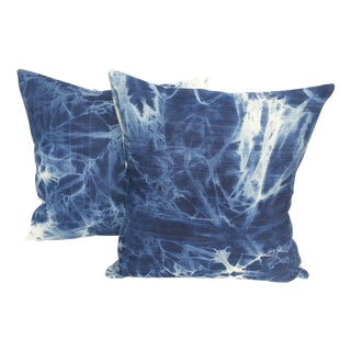 Turkish Indigo Tie Dye Pillows - Pair