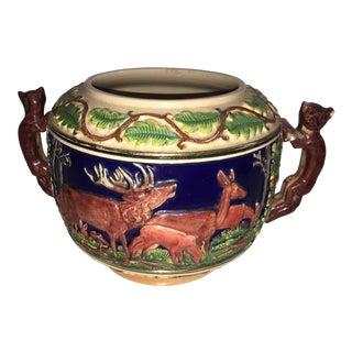 Ceramic Elks & Bears Bowl