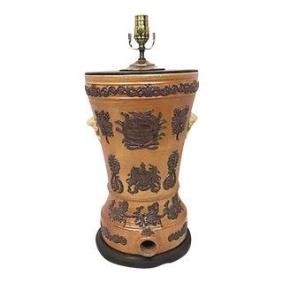 19th Century Ceramic Water Filter Lamp