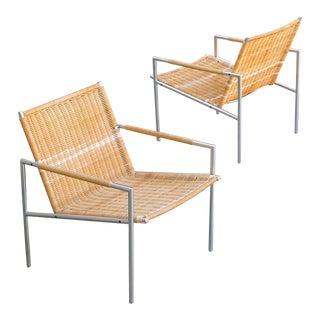 Martin Visser for Spectrum Vintage Midcentury Modern Pair of Arm Chairs