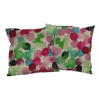 Watercolor Droplets Pillow
