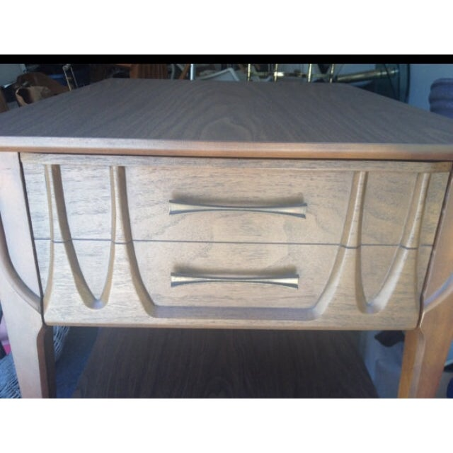 Image of Mid-Century Broyhill Style Side Tables - A Pair
