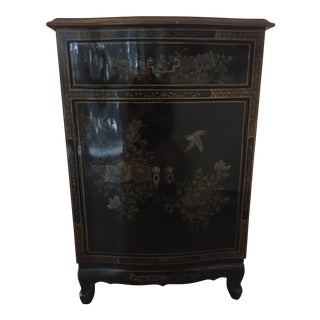 Japanese Black Laquer Hutch