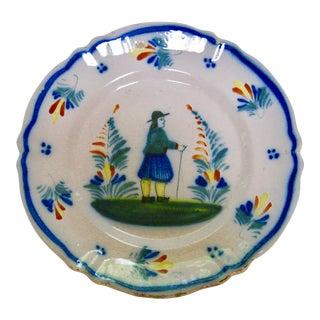 Antique Henriot Quimper Pottery Plate