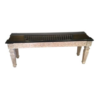 Dennis & Leen Black Granite Console Table