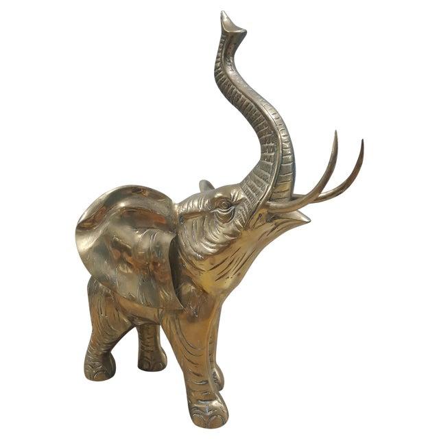 Brass Elephant Figurine - Image 1 of 4