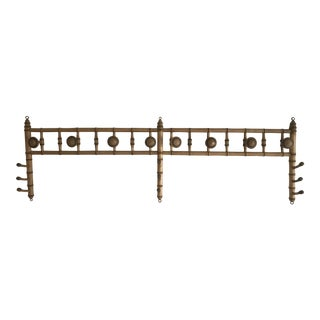 Faux Bamboo Wall Mounted Peg Coat Hat Rack