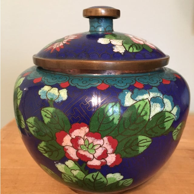 Vintage Cloisonné Bowl With Lid - Image 2 of 11