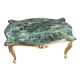 Neoclassical Green Marble Coffee Table