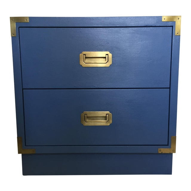 Blue Campaign Style Nightstand - Image 1 of 5