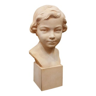 Henri Bargas 1930's French Terracotta Bust of Boy