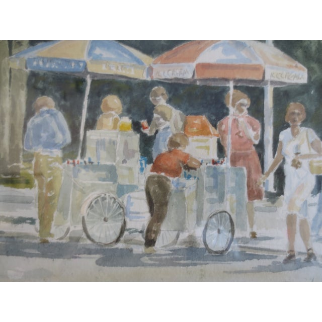 Summer Street Vendors Painting - Image 5 of 6