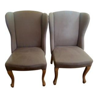 H.D. Buttercup Wingback Chairs - A Pair
