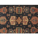 "Image of Vintage Red & Navy Oushak Wool Rug - 9'7"" x 7'"