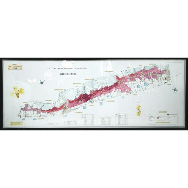 Framed French Topographical Map of Wine Region - Image 2 of 9