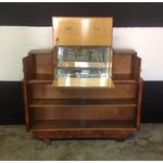 Image of Art Deco Style Wooden Bar Cabinet