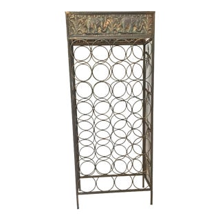 Antique Brass Wine Rack