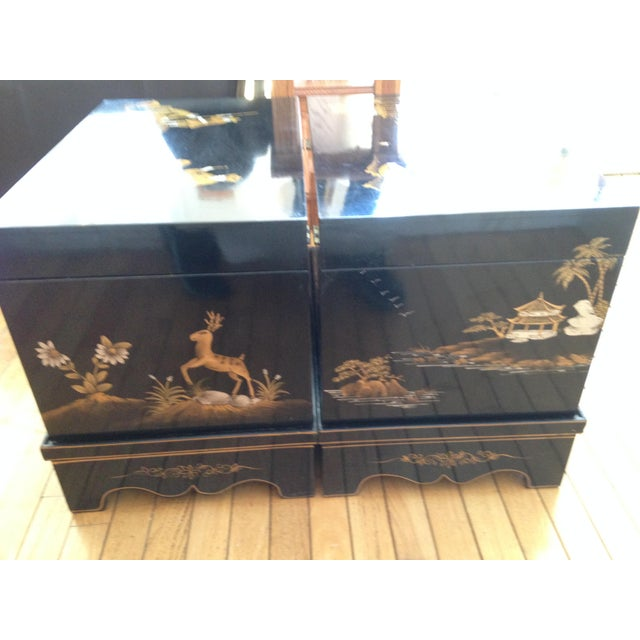 Vintage Chinese Laquered Chests - A Pair - Image 11 of 11