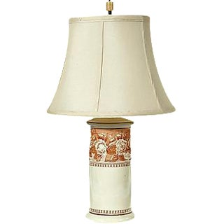 Vintage English Porcelain Rose Table Lamp