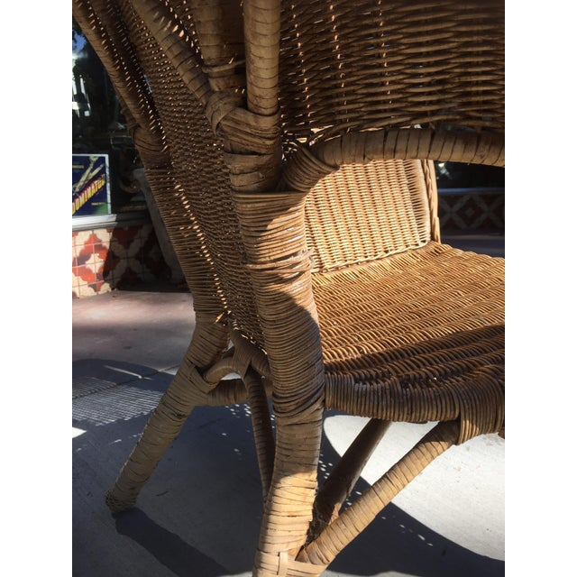 Vintage 1940s Wicker Carved Swan Chairs - A Pair - Image 9 of 9